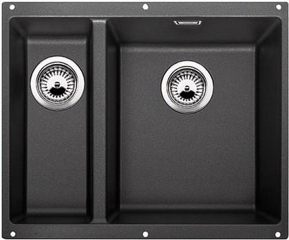 Кухонная мойка без крыла, основная чаша справа, с клапаном-автоматом, гранит, антрацит Blanco SUBLINE 340/160-U 520402