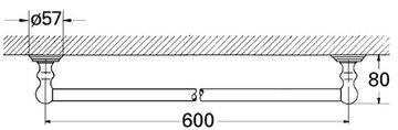 Держатель для полотенца 600мм, хром Grohe SINFONIA 40049000