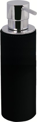 Диспенсер для мыла, хром / чёрная экокожа Colombo Black&White B9232.EPN