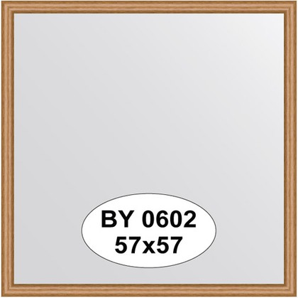 Зеркало 57x57см в багетной раме вишня Evoform BY 0602