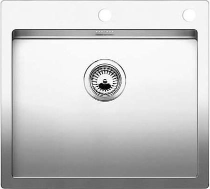 Кухонная мойка без крыла, с клапаном-автоматом, нержавеющая сталь зеркальной полировки Blanco CLARON 550-IF/A 516797