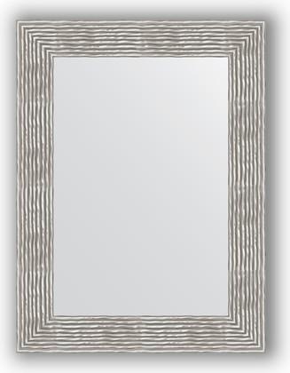 Зеркало в багетной раме 60x80см волна хром 90мм Evoform BY 3057