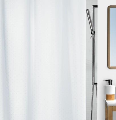 Штора для ванны 180x200см белая, текстиль Spirella RICCO 1043814