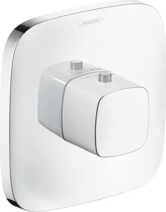Наружная часть термостата, для душевых систем с большим расходом воды, белый / хром Hansgrohe PuraVida 15772400