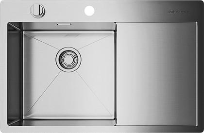 Кухонная мойка с правым крылом, нержавеющая сталь Omoikiri Kirisame 78-IN-L 4993060