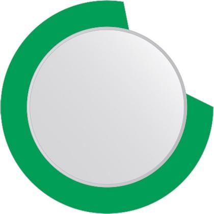 Зеркало для ванной на цветном основании диаметр 80см FBS CZ 0604