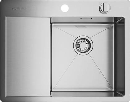 Кухонная мойка с левым крылом, нержавеющая сталь Omoikiri Kirisame 65-IN-R 4993059