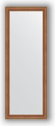 Зеркало в багетной раме 55x145см бронзовые бусы на дереве 60мм Evoform BY 3107