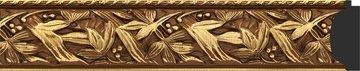 Зеркало с фацетом в багетной раме 69x99см византия золото 99мм Evoform BY 3441