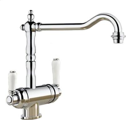 Смеситель кухонный традиционный однорычажный с одним изливом для питьевой и обычной воды, хром Blanco SORA 520834