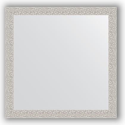 Зеркало в багетной раме 61x61см мозаика хром 46мм Evoform BY 3132