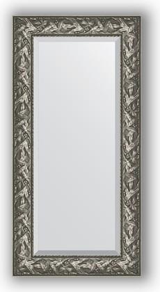Зеркало с фацетом в багетной раме 59x119см византия серебро 99мм Evoform BY 3494