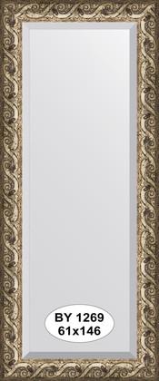Зеркало 61x146см с фацетом 30мм в багетной раме фреска Evoform BY 1269