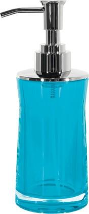 Ёмкость для жидкого мыла голубая Spirella SYDNEY Clear-Acrylic 1017780