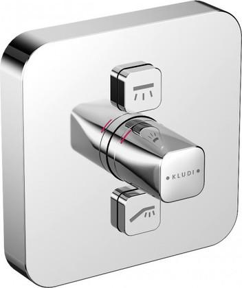 Термостат для душа встраиваемый для 2-ух источников воды, верхняя часть с механизмом, хром Kludi PUSH 386110538