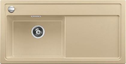 Кухонная мойка чаша слева, крыло справа, с клапаном-автоматом, гранит, шампань Blanco ZENAR XL 6 S 519287