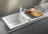 Кухонная мойка оборачиваемая без крыла, с клапаном-автоматом, гранит, белый Blanco ADON XL 6 S 519621