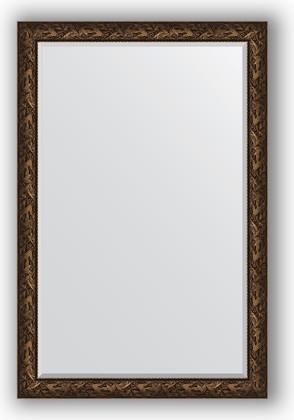 Зеркало с фацетом в багетной раме 119x179см византия бронза 99мм Evoform BY 3625