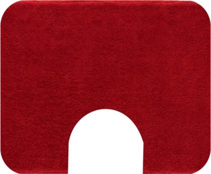 Коврик с вырезом под туалет 60x50см красный Grund COMFORT WC 2399.06.4012