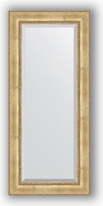 Зеркало с фацетом в багетной раме 72x162см состаренное серебро с орнаментом 120мм Evoform BY 3584