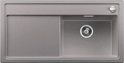 Кухонная мойка чаша справа, крыло слева, с клапаном-автоматом, гранит, алюметаллик Blanco ZENAR XL 6 S-F 519309