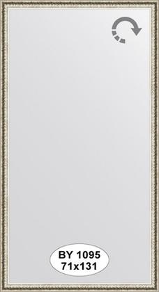 Зеркало 71x131см в багетной раме мельхиор Evoform BY 1095