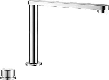 Смеситель кухонный для установки возле окна однорычажный с выдвижным, вращающимся изливом, хром Blanco ELOSCOPE-F II 516672