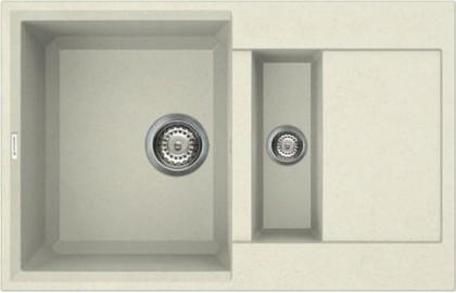 Кухонная мойка оборачиваемая с крылом, гранит, ваниль Omoikiri Sakaime 78-2-BE 4993115