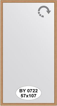 Зеркало 57x107см в багетной раме вишня Evoform BY 0722