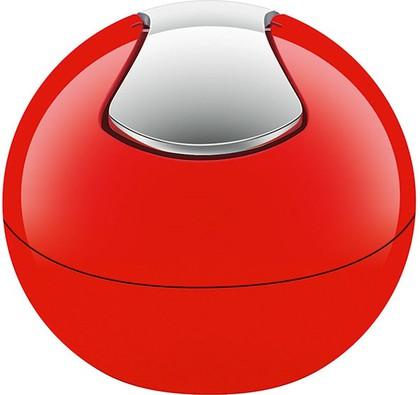 Ведро настольное 1л красное Spirella BOWL-SHINY 1014967