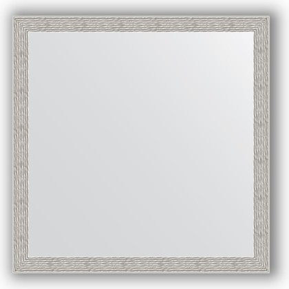 Зеркало в багетной раме 71x71см волна алюминий 46мм Evoform BY 3230