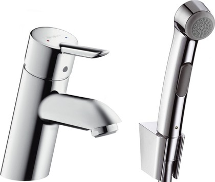 Смеситель для раковины однорычажный с гигиеническим душем, хром Hansgrohe Focus S 37121000