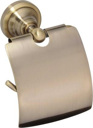 Держатель туалетной бумаги с крышкой, бронза, Bemeta 144112017