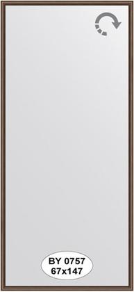 Зеркало 67x147см в багетной раме орех Evoform BY 0757