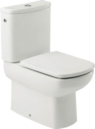 Унитаз напольный, выпуск Vario, комплект (чаша, бачок, сиденье с микролифтом) Roca DAMA SENSO 342518-1