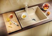 Кухонная мойка оборачиваемая с крылом, гранит, алюметаллик Blanco ZIA 40 S 516919
