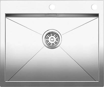 Кухонная мойка без крыла, с клапаном-автоматом, нержавеющая сталь зеркальной полировки Blanco ZEROX 550-IF/A 516794