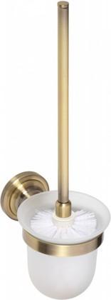 Туалетный ёрш в стеклянной подставке 360мм, бронза, Bemeta 144113017