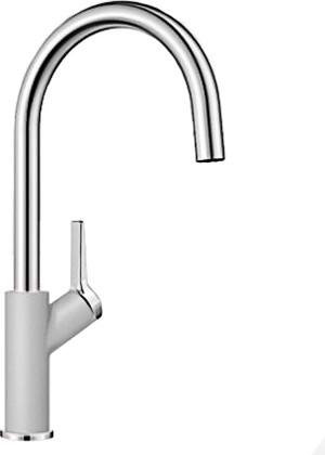 Смеситель кухонный однорычажный с высоким изливом, жемчужный Blanco CARENA 520974