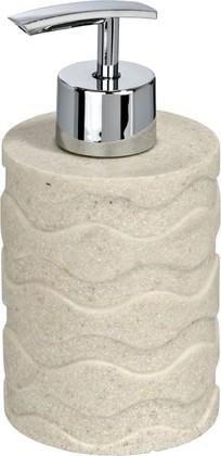 Ёмкость для жидкого мыла бежевая Wenko WAVE LIGHT STONE 20469100