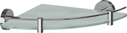 Полка для ванной стеклянная угловая 24см ArtWelle HAR 039