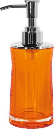 Ёмкость для жидкого мыла оранжевая Spirella SYDNEY Clear-Acrylic 1017772