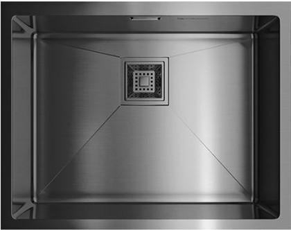 Кухонная мойка без крыла, нержавеющая вороненая сталь Omoikiri Akisame 54-U-GM 4993107