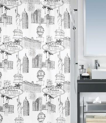 Штора для ванной комнаты 180x200см текстильная Spirella VEGAS 1017950
