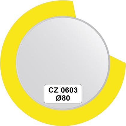 Зеркало для ванной на цветном основании диаметр 80см FBS CZ 0603