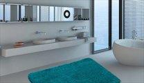 Коврик для ванной 50x80см бирюзовый Grund MELO 2559.11.4126