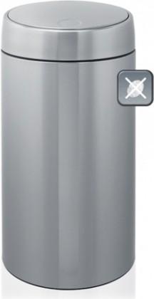 Мусорный бак 45л стальной матовый Brabantia SLIDE BIN 415845