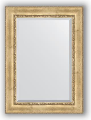 Зеркало с фацетом в багетной раме 82x112см состаренное серебро с орнаментом 120мм Evoform BY 3480