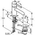 Смеситель для раковины однорычажный с донным клапаном, хром Kludi BOZZ 382910576