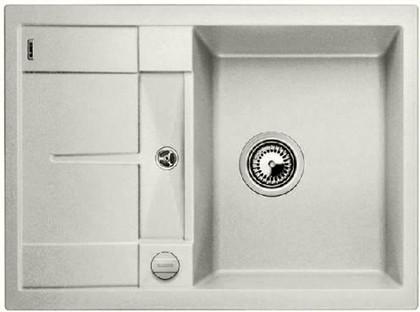 Кухонная мойка оборачиваемая с крылом, с клапаном-автоматом, гранит, жемчужный Blanco METRA 45 S Compact 520570